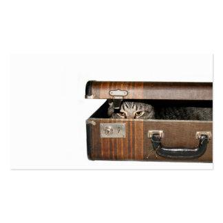 Tarjeta de visita del gato que viaja