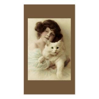 Tarjeta de visita del gato y de señora PURRfect Be