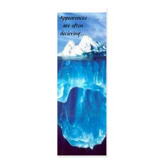 tarjeta de visita del glaciar