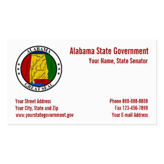 Tarjeta de visita del gobierno del sello del estad
