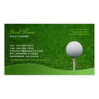 Tarjeta de visita del golf