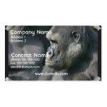 Tarjeta de visita del gorila de montaña