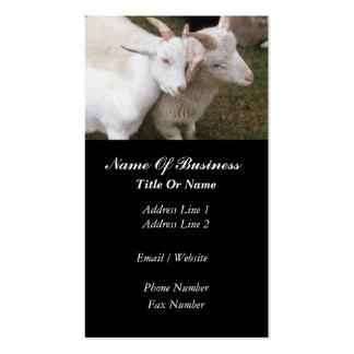 Tarjeta de visita del granjero de la cabra