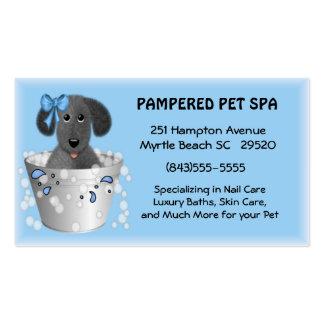 Tarjeta de visita del Groomer del mascota