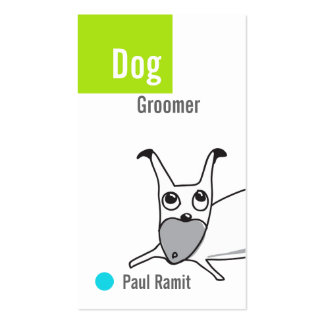Tarjeta de visita del Groomer del perro