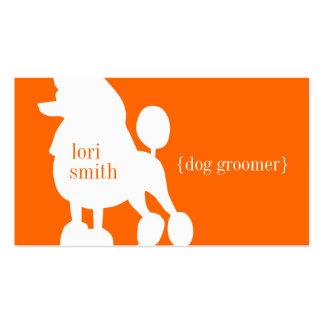 Tarjeta de visita del Groomer del perro de caniche