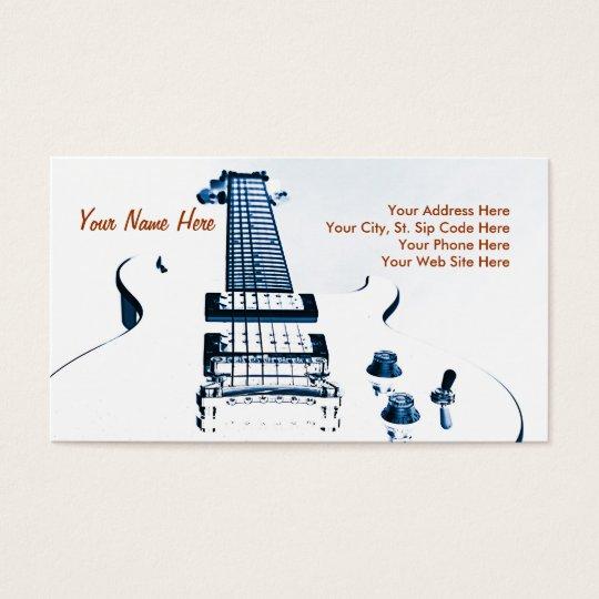 Tarjeta de visita del guitarrista