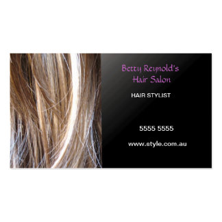 Tarjeta de visita del Hairstylist