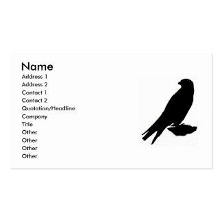 Tarjeta de visita del halcón de peregrino
