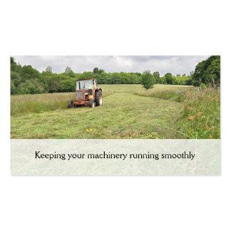 Tarjeta de visita del haymaking del tractor