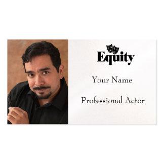 Tarjeta de visita del Headshot para el actor del A