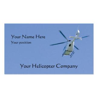 Tarjeta de visita del helicóptero