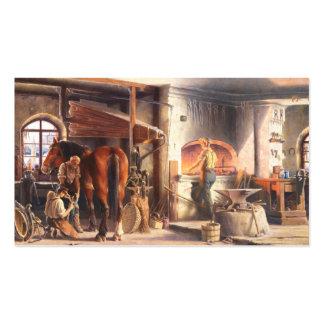 Tarjeta de visita del herrador del herrero