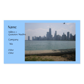 Tarjeta de visita del horizonte de Chicago