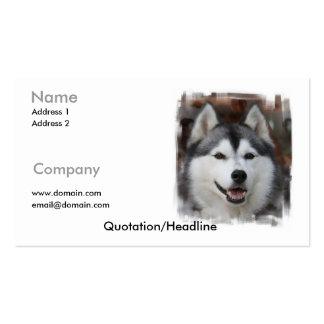 Tarjeta de visita del husky siberiano