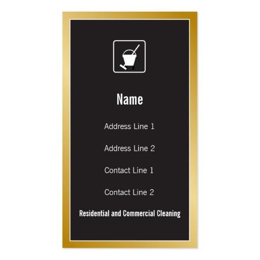 Tarjeta de visita del icono del servicio de la lim