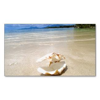 Tarjeta de visita del imán de la playa del