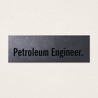 Tarjeta de visita del ingeniero del petróleo del