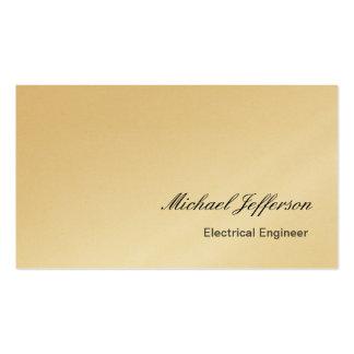 Tarjeta de visita del ingeniero eléctrico del oro