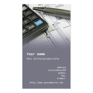 "Tarjeta de visita del ""ingeniero industrial"""