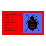 Tarjeta de visita del insecto de cama