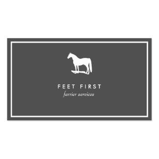 Tarjeta de visita del instructor de caballo del