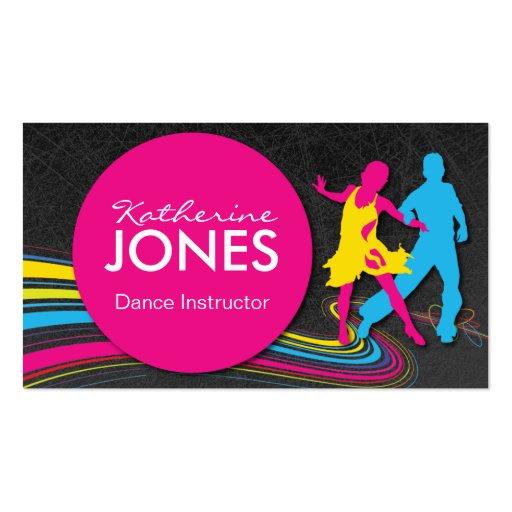 Tarjeta de visita del instructor de la danza