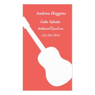 Tarjeta de visita del instructor de la guitarra