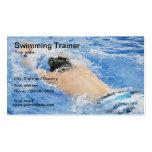 Tarjeta de visita del instructor de la natación