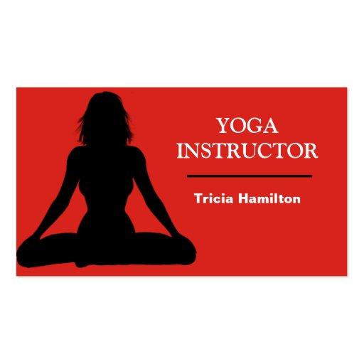 Tarjeta de visita del instructor de la yoga