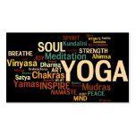 Tarjeta de visita del instructor de la YOGA - pala