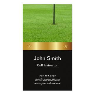 Tarjeta de visita del instructor del golf de la co