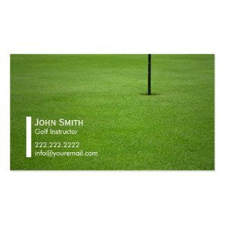 Tarjeta de visita del instructor del golf profesio