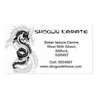 Tarjeta de visita del instructor del karate