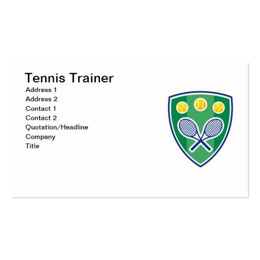 Tarjeta de visita del instructor del tenis