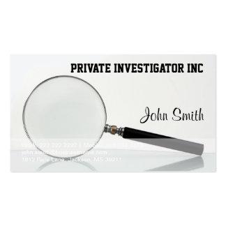 Tarjeta de visita del investigador privado