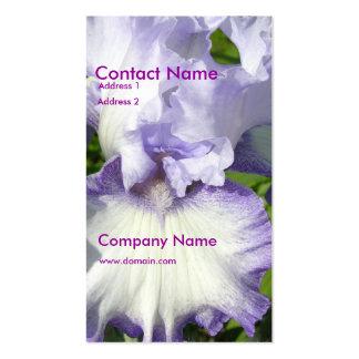 Tarjeta de visita del iris barbudo