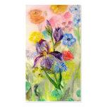 """Tarjeta de visita del """"iris púrpura"""""""