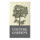 Tarjeta de visita del jardinero del olivo del vint