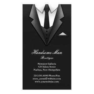 Tarjeta de visita del juego del hombre de negocios
