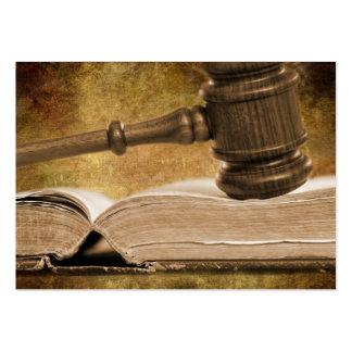 Tarjeta de visita del juicio