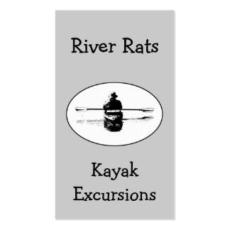 Tarjeta de visita del kajak y de la guía del río
