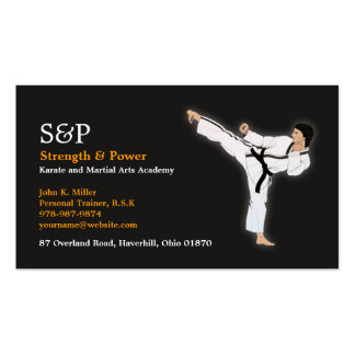 Tarjeta de visita del karate de los artes marciale