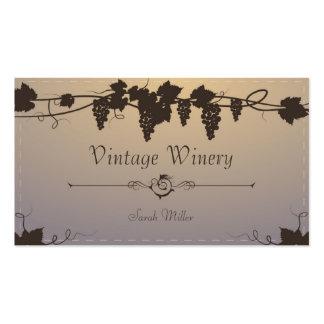 Tarjeta de visita del lagar del vintage - vino de