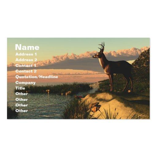 Tarjeta de visita del lago deer