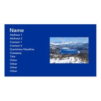 Tarjeta de visita del lago Donner