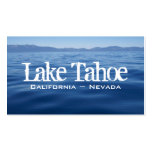 Tarjeta de visita del lago Tahoe