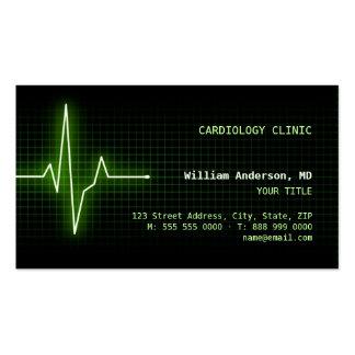 Tarjeta de visita del latido del corazón ECG del p