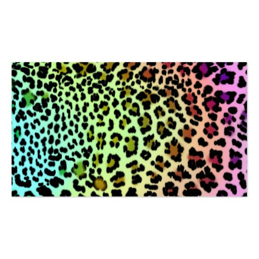 Tarjeta de visita del leopardo del arco iris