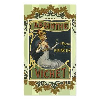 Tarjeta de visita del licor del vintage